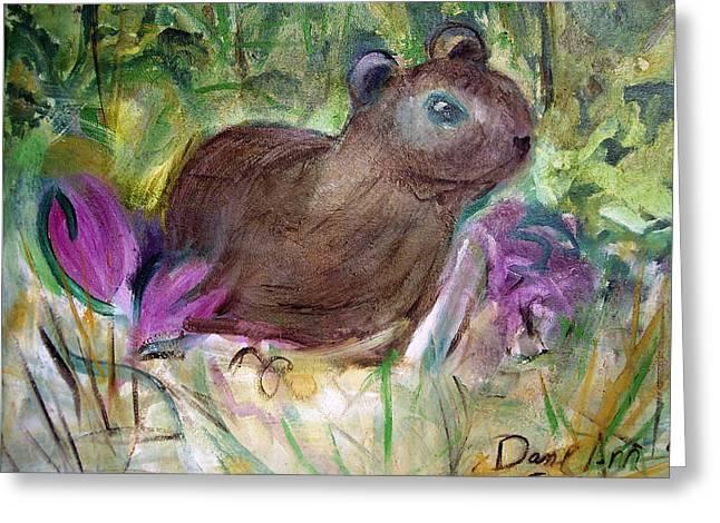 Groundhog Photographs Greeting Cards - Groundhog emerging Greeting Card by Dane Ann Smith Johnsen