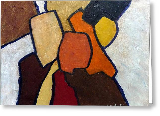 Geometric Art Greeting Cards - Group Hug Greeting Card by Jim Whalen