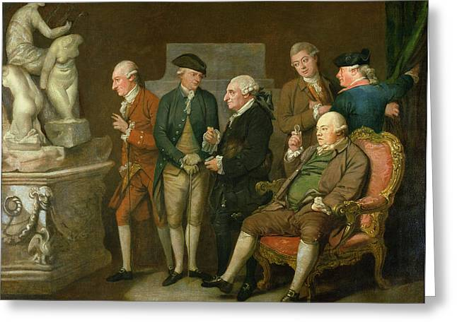 Gentlemen Greeting Cards - Group Of Connoisseurs Greeting Card by Richard Cosway