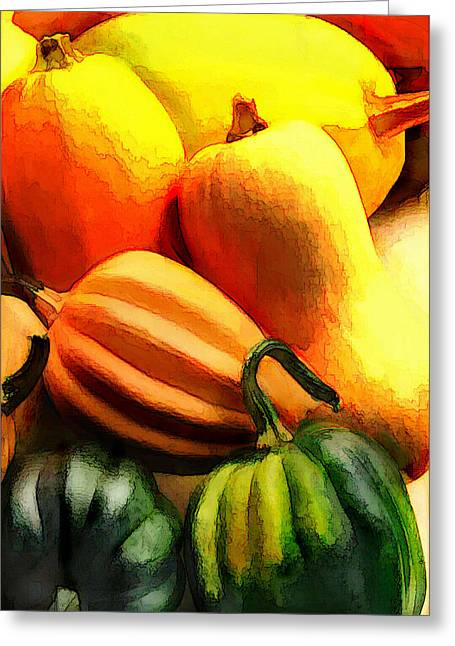 Group Of Gourds Greeting Card by Elaine Plesser