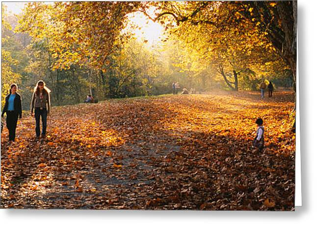 Casual Clothing Greeting Cards - Group Of People In A Park, Tuebingen Greeting Card by Panoramic Images