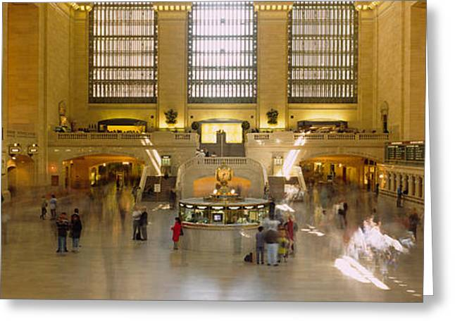 Casual Clothing Greeting Cards - Group Of People In A Subway Station Greeting Card by Panoramic Images