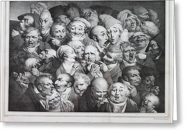 Boilly Greeting Cards - Group of Thirty-Five Heads Greeting Card by Louis Leopold Boilly