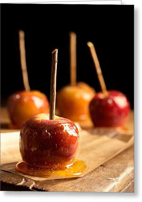 Bonfire Night Greeting Cards - Group Of Toffee Apples Greeting Card by Amanda And Christopher Elwell