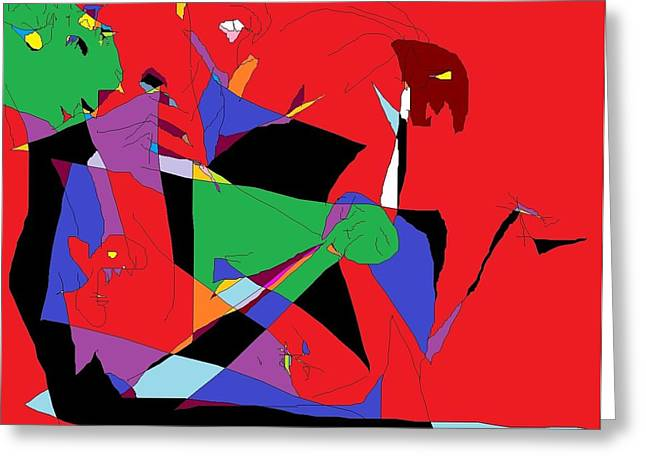 Abstracted Sculptures Greeting Cards - Group Therapy Greeting Card by Willie Anicic
