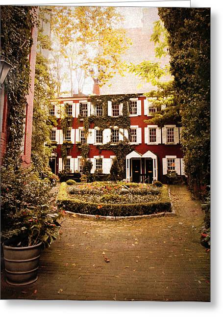 Shuttered Windows Greeting Cards - Grove Court Greeting Card by Jessica Jenney