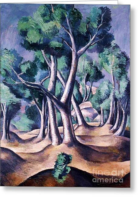 Derain Greeting Cards - Grove Greeting Card by Pg Reproductions
