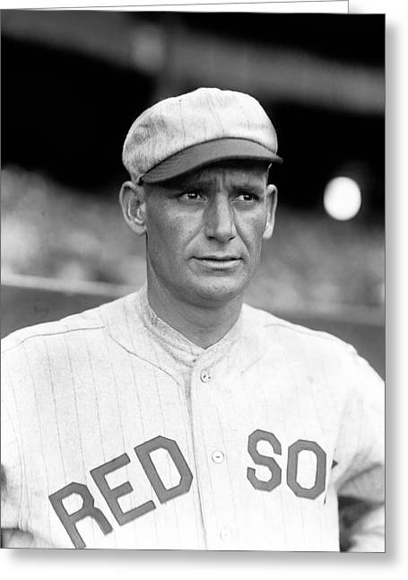 Boston Red Sox Greeting Cards - Grover A. Hartley Greeting Card by Retro Images Archive
