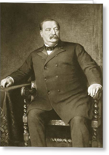 Us History Drawings Greeting Cards - Grover Cleveland Greeting Card by American School