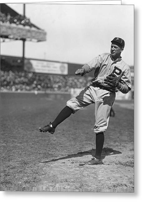 Famous Photographer Greeting Cards - Grover Cleveland Alexander Pre Game Pitching Greeting Card by Retro Images Archive