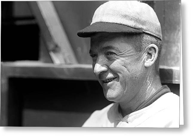Grover Cleveland Alexander Smiling Greeting Card by Retro Images Archive