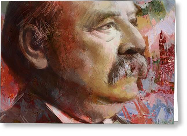 Grover Cleveland Greeting Card by Corporate Art Task Force
