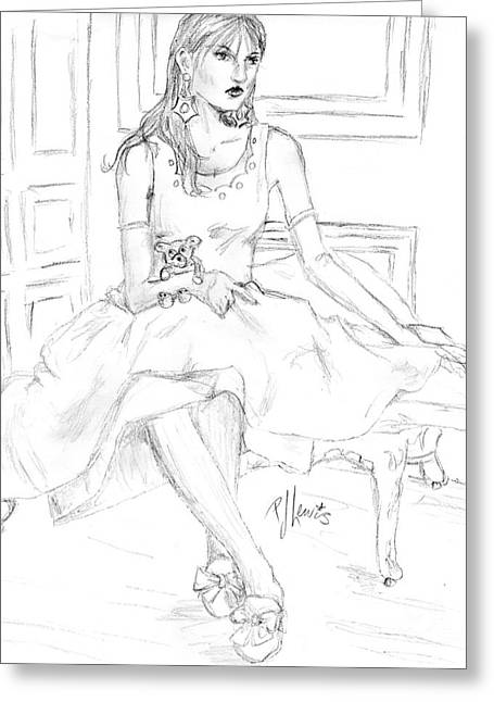 Woman In A Dress Greeting Cards - Grow Up Greeting Card by P J Lewis