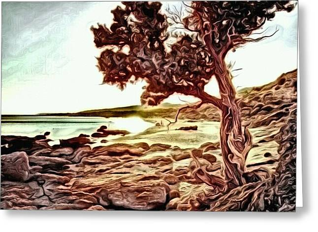 Ebay Greeting Cards - Growing by the Sea Greeting Card by Art Diamond