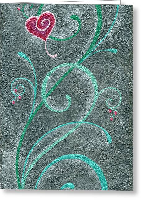 Gunmetal Greeting Cards - Growing Love Greeting Card by Elaine Allen