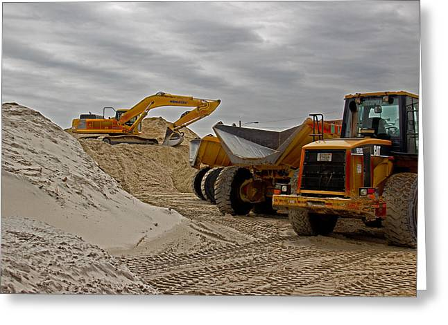 Front End Loader Greeting Cards - Grownups Sandbox Greeting Card by Tom Gari Gallery-Three-Photography