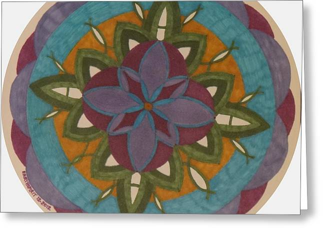 Geometric Art Greeting Cards - Growth Greeting Card by Janet Berch