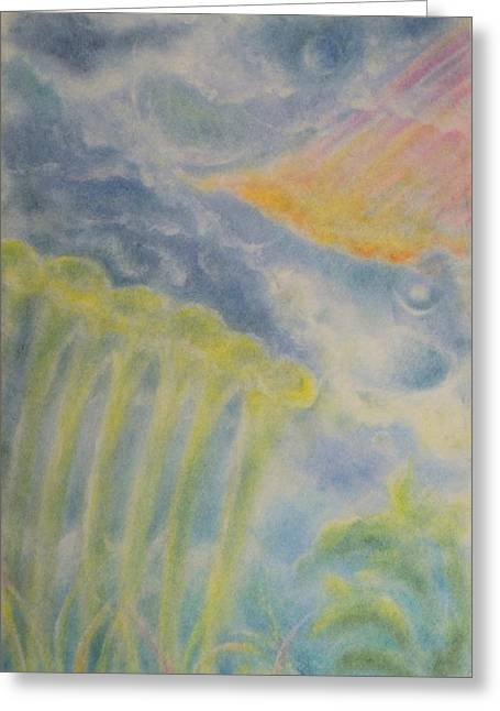Mystical Landscape Pastels Greeting Cards - Growth Greeting Card by Joel Rudin