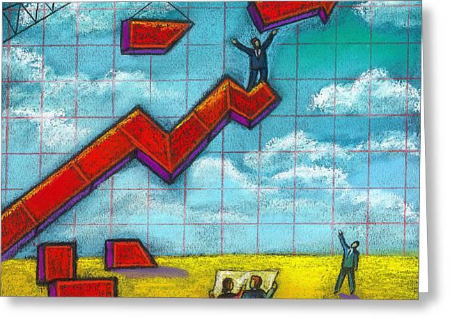Growth Greeting Card by Leon Zernitsky