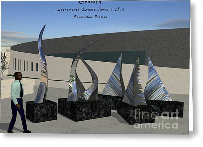 Steel Sculptures Greeting Cards - Growth Greeting Card by Peter Piatt