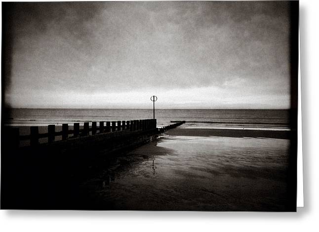 Grainy Greeting Cards - Groyne 2 Greeting Card by Dave Bowman