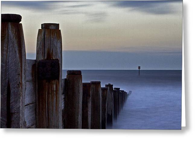 Blyth Greeting Cards - Groynes at Blyth Sands Greeting Card by David Pringle