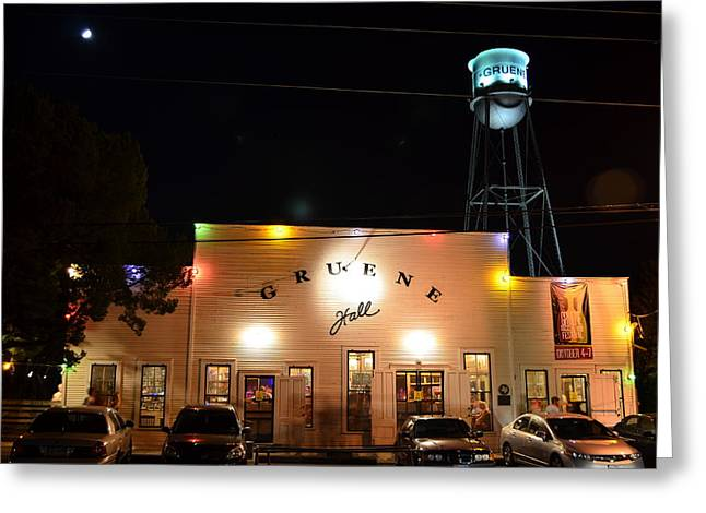 Music Time Photographs Greeting Cards - Gruene Hall Greeting Card by David Morefield
