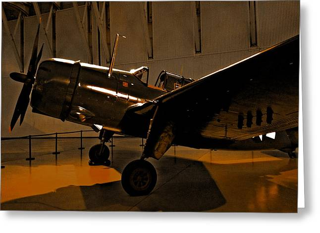 Enterprise Digital Art Greeting Cards - Curtiss SB2C Helldiver Greeting Card by Robert Pierce