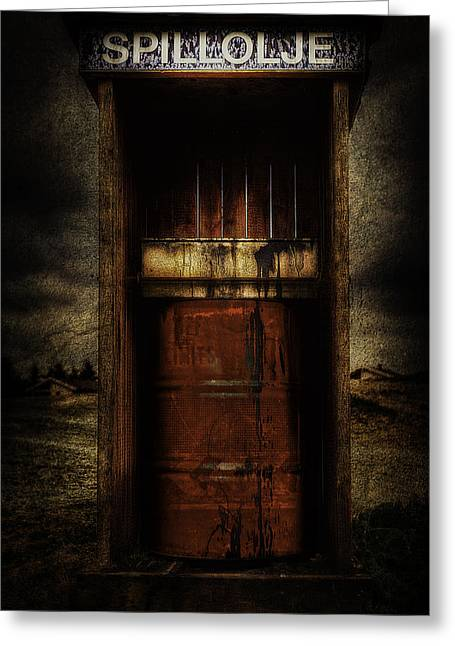 Polluting Greeting Cards - Grunge Art Part IV - Waste Oil Greeting Card by Erik Brede