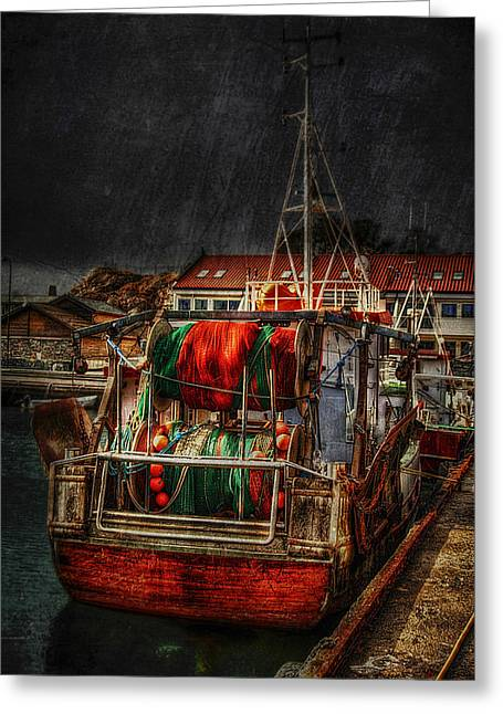 Masts Greeting Cards - Grunge Art Part IX - Resting Greeting Card by Erik Brede