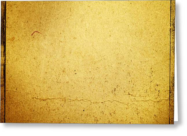Border Photographs Greeting Cards - Grunge background Greeting Card by Les Cunliffe