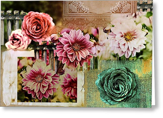 Dagmar Greeting Cards - Grunge Collage Greeting Card by Dagmar Wassenberg