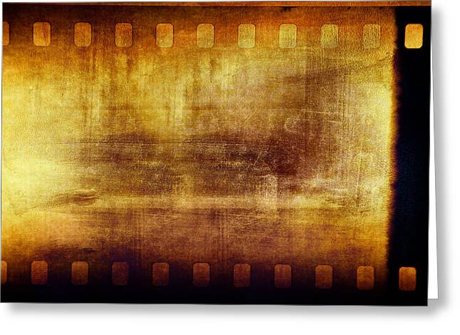 Films Photographs Greeting Cards - Grunge filmstrip Greeting Card by Les Cunliffe
