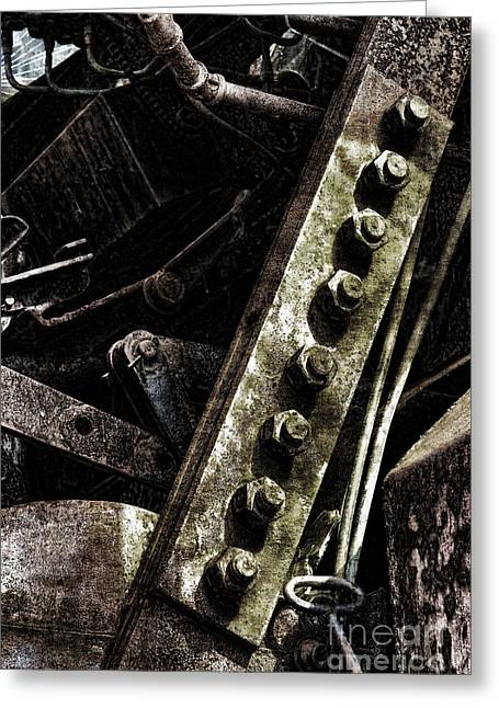 Industrial Greeting Cards - Grunge Industrial Machinery Greeting Card by Olivier Le Queinec