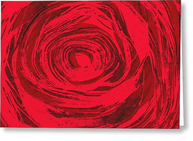 Floral Digital Art Digital Art Greeting Cards - Grunge rose Greeting Card by Frances Lewis