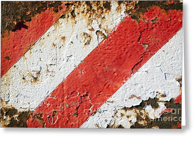 Recently Sold -  - Industrial Background Greeting Cards - Grunge Stripe Background Greeting Card by Tim Hester