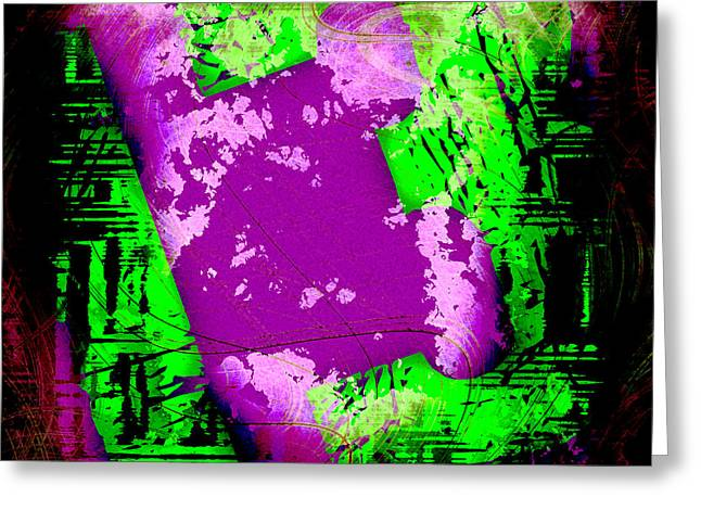 Thirteen Greeting Cards - Grunge Style Number 13 Greeting Card by David G Paul