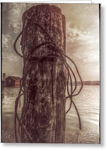 Reserve Greeting Cards - Grungy Pole Greeting Card by Erik Brede
