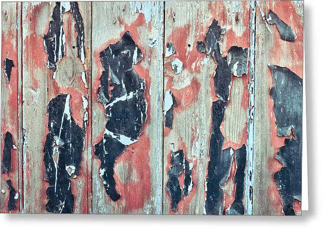 Industrial Background Greeting Cards - Grungy wood Greeting Card by Tom Gowanlock
