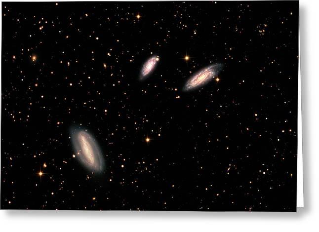 Grus Interacting Galaxies Greeting Card by Damian Peach