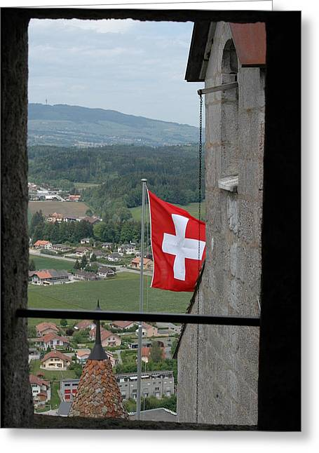 Gruyere Greeting Cards - Gruyere Switzerland Castle Greeting Card by Marshall Baker