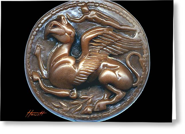 Engraving Sculptures Greeting Cards - Gryphon or Griffin Greeting Card by Patricia Howitt