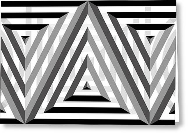 Targeted Greeting Cards - GS Triangles Panoramic Greeting Card by Mike McGlothlen