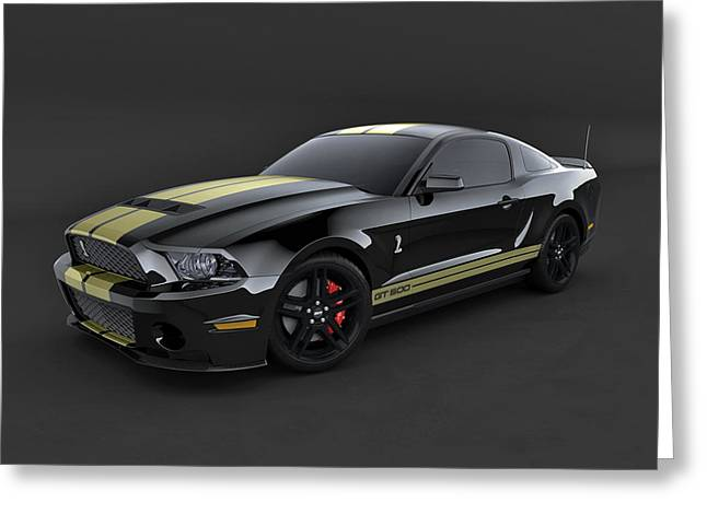 Owner Digital Art Greeting Cards - Mustang Shelby GT 500 Greeting Card by Andrew Leck
