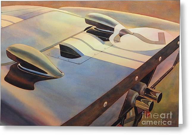 Automobilia Greeting Cards - Gt40 Greeting Card by Robert Hooper