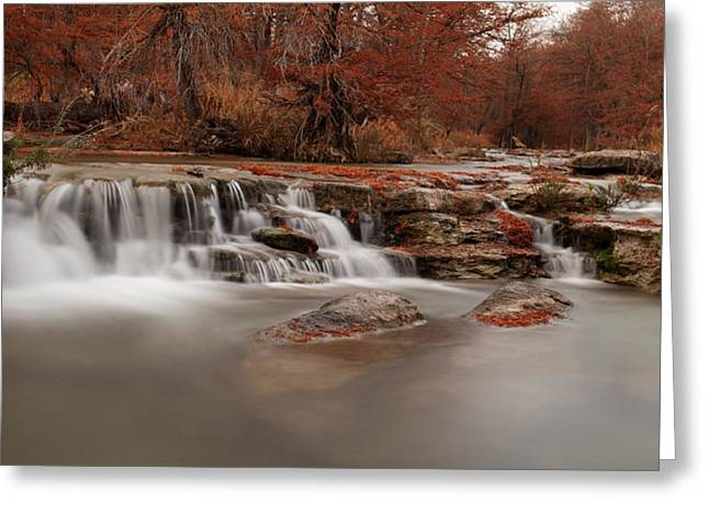 The Hills Greeting Cards - Guadalupe River Panorama Greeting Card by Paul Huchton