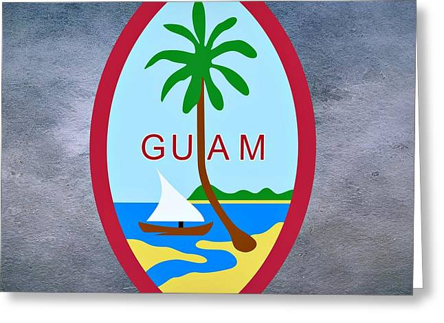 River Of Life Greeting Cards - Guam Territory Seal Greeting Card by Movie Poster Prints