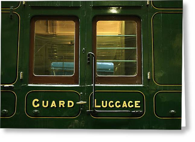 Rolling Luggage Greeting Cards - Guard and Luggage Car Greeting Card by Paul Williams
