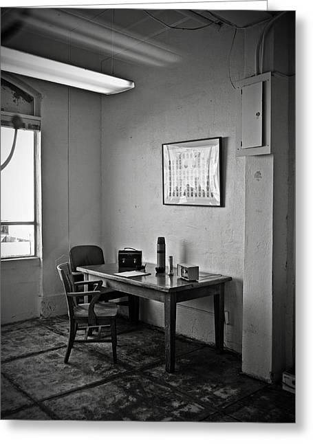 Guard Dining Area In Alcatraz Prison Greeting Card by RicardMN Photography