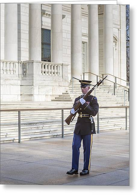 3rd Army Greeting Cards - Guard Of Honor Greeting Card by Susan Candelario